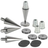 DSS3-BC Black Chrome Spike Set 4 Pcs.