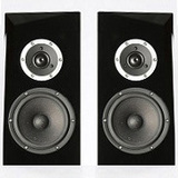 ARA-BKHGL Pair of SB Acoustics Speaker Cabinet Black High Gloss