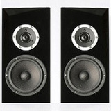 ARA-BKSAT Pair of SB Acoustics Speaker Cabinet Black Satin