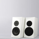 ARA-WHSAT Pair of SB Acoustics Speaker Cabinet White Satin