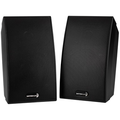 SAT-BK 2-Way Satellite Speaker Pair Black