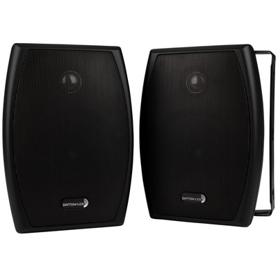 "IO525B 5-1/4"" 2-Way Indoor/Outdoor Speaker Pair Black"